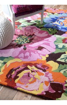 Rugs USA Prescott Floral TU50 Multi Rug. Rugs USA Columbus Day $99 Sale! Area rug, rug, carpet, design, style, home decor, interior design, pattern, trends, home, statement, fall,design, autumn, cozy, sale, discount, interiors, house, free shipping, Halloween, fall decorations, fall crafts, fall du00e9cor, great winter, winter, warm, furniture, chair, art.
