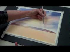 How to Paint a Watercolor Sky - YouTube