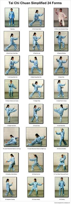 #TaiChi moves for fitness and stress relief!