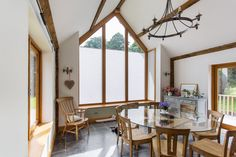 Kitchens are in use day and night, year-round – so it's important to be able to screen the glas. Grand Designs, Round, Blinds, Glas, Gable Window, Home, Closet Wall Organizer, Home Decor, Arched Windows