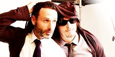 Pin for Later: 14 Times Norman Reedus and Andrew Lincoln's Bromance Was Too Adorable to Ignore When They Both Were Ridiculously Hot For a Photo Shoot