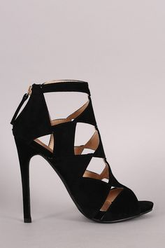 Liliana Suede Cutout Peep Toe Stiletto Heel – Style Lavish
