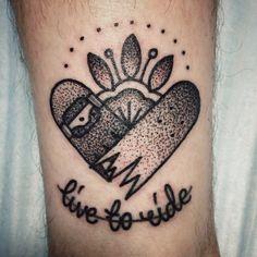 Live to ride. #tattoo