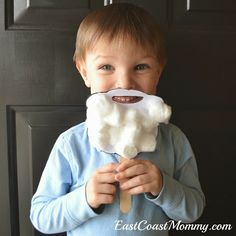 East Coast Mommy: Santa Beard - Preschooler Craft