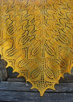 NobleKnits.com - Tin Can Knits Sunflower Lace Shawl Knitting Pattern, $7.95…