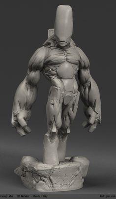 3D Printed Characters on Behance via PinCG.com