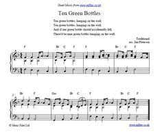Ten Green Bottles - children's counting song