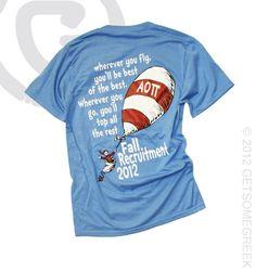 Alpha Omicron Pi Bid Day Dr Suess - Senior shirt?