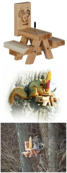 Best Squirrel Feeder : Woodlink Picnic Table