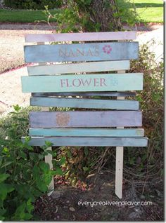 DIY: How to make a wooden rustic sign for the garden.