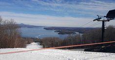 Vue, piste et lac, Owl's Head, Québec, mars 2016 Mars, Skiing, Photos, Snow, Mountains, Nature, Travel, Outdoor, Dance Floors