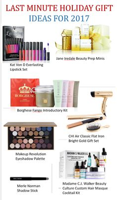A last minute gift guide fr 2017 featuring items that the beauty junkie in your life will love