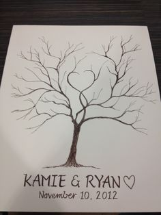 Thumbprint Tree Guest Book. via Etsy. How cute and make them sign their names next to it! EkkkK! It's a must!