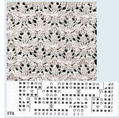 Shamrock Motif free knitting graph pattern
