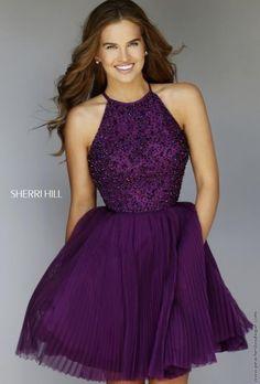 Sherri Hill Short Halter Top Tulle Dress 32335