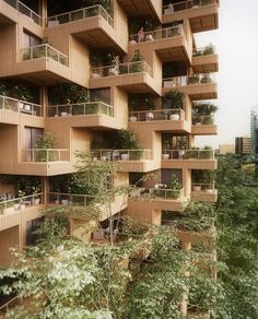 Penda, which has offices in China and Austria, collaborated with Canadian company Tmber for the Toronto Tree Tower project. They propose an 18-storey residential block that would stand 62 metres tall, with a modular structure made from cross-laminated timber (CLT).