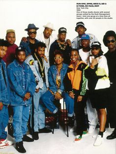Hip Hop Weekly. Portraits 1980 - 2010.  Run DMC, EPMD, Nikki D, Sid & B-Tonn, No Face and BWP.
