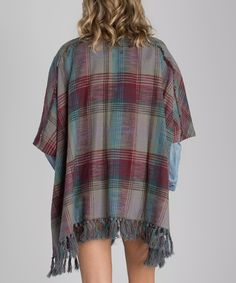 Thunder Cloud Plaid Forever Fall Cardigan
