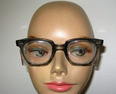 Vintage 1950s 'SAFETY EYEGLASS Frames SMOKY by TheInstantMemory