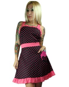 TOO FAST BRAND - ASHEVILLE APRON DRESS - CUPCAKE