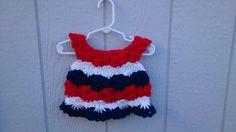 Patriotic Little Dress - Size Newborn by LittleLuvCrochet on Etsy