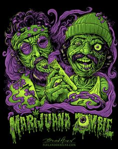 Cheech and Chong Zombies T-Shirt Illustration on Behance