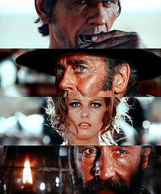 Once Upon A Time In The West ~ Charles Bronson, Henry Fonda, Claudia Cardinal and Jason Robarts - directed by Sergio Leone Charles Bronson, Claudia Cardinale, The Best Films, Great Films, Martin Scorsese, Westerns, Sergio Leone, Fritz Lang, Western Movies