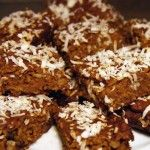 pumpkin oatmeal coconut bars