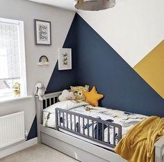Boys Bedroom Paint, Kids Room Paint, Bedroom Wall Colors, Room Colors, Bedroom Wall Designs, Childs Bedroom, Baby Bedroom, Toddler Boy Room Decor, Toddler Rooms