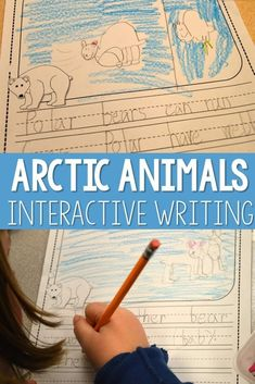 Check out these kindergarten arctic animal interactive writing ideas, including responding to prompts, writing mechanics, and spelling strategies!