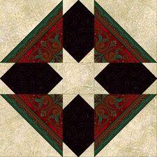 Goshen Star free pattern on Jinny Beyer at http://www.jinnybeyer.com/quilting-with-jinny/design-board/detail.cfm?blockid=185