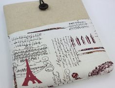 Ipad sleeve.  Not really my style, but lots of folks love the Parisian theme, and the quality looks top notch. $22.90 from PinkOasis