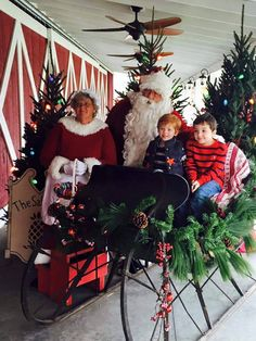 saltbox christmas 2015 with santa mrs claus the reindeer and lots of memorable photos created