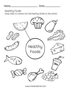 Healthy Foods matching worksheets for preschool worksheets Preschool science worksheets on Healthy Foods Matching Worksheets, 1st Grade Worksheets, Science Worksheets, Worksheets For Kids, Kindergarten Worksheets, Geography Worksheets, Healthy Habits For Kids, Healthy And Unhealthy Food, Healthy Meals For Two