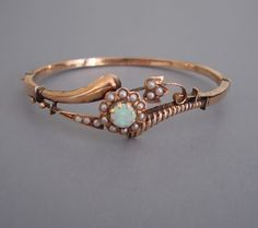 Opal and Seed Pearl Bracelet