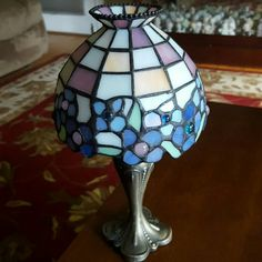 "Partylite tealight lamp. Very pretty Partylite tealight lamp. Very pretty. excellent condition.  Mosiac top with hydrangeas in the design. About 12"" tall. partylite Other"