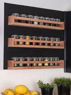 Kitchen diy spice rack spice rack design, spice rack uses, Best Kitchen Cabinets, Kitchen Cabinet Organization, New Kitchen, Kitchen Storage, Kitchen Decor, Cabinet Organizers, Kitchen Ideas, Bedroom Organization, Spice Rack Design