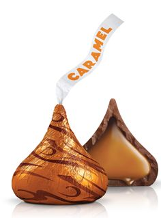 HERSHEY'S KISSES Milk Chocolates Filled with Caramel - the luscious caramel and smooth chocolate creates a taste combination you'll want to experience again and again.