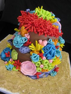 A coral reef birthday cake!