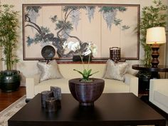 Asian-style Interior Design Ideas - Decor Around The World - Asian Home Decor: . - Asian-style Interior Design Ideas – Decor Around The World – Asian Home Decor: Delicate Design - Asian Living Rooms, Interior Design Living Room, Living Room Designs, Living Room Decor, Living Spaces, Bedroom Decor, Asian Interior Design, Asian Design, Contemporary Interior Design