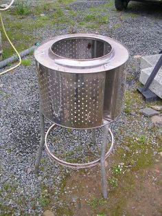 build an incinerator/outdoor heater from an old washer drum