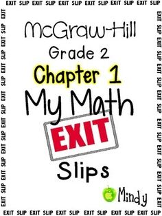 math worksheet : my math mcgraw hill chapter 12 exit slips grade 2  : Mcgraw Hill Math Worksheets