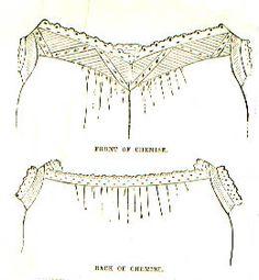Civil War Era Chemise Pattern, Peterson's December 1860