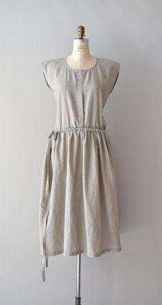 vintage Oyster linen sack dress    #vintagedress #sackdress #linen #minimal
