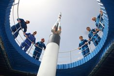 The Expedition astronauts and their backup pose in Cosmonauts Alley in Baikonur Soyuz Spacecraft, International Space Station, Astronomy, Galaxies, Poses, Astronauts, Life, Image, Space Station