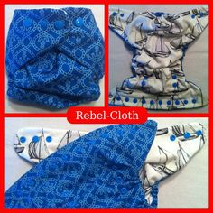 AI2 Cloth Diaper Anchors Away Waterproof One Size by RebelCloth, $18.00