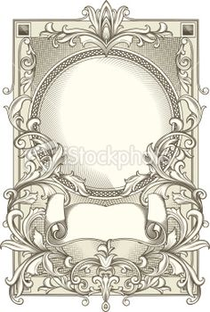 Decorative blank Royalty Free Stock Vector Art Illustration