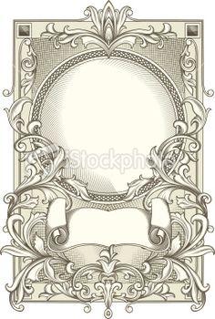 Decorative blank Royalty Free Stock Vector Art Illustration
