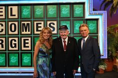 George, 89, Attends a taping of Wheel of Fortune. #WishConnect