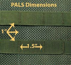 Dimensions+for+the+Pouch+Attachment+Ladder+System+(PALS) The+Dimensions+for+the. - Real Time - Diet, Exercise, Fitness, Finance You for Healthy articles ideas Molle Gear, Airsoft Gear, Tactical Equipment, Tactical Gear, Tactical Pouches, Diy Backpack, Backpack Hacks, Molle System, Training